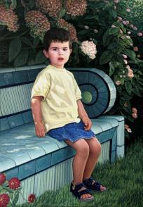Petite fille dans un jardin (I)