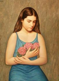 Mädchen mit Blumen (I)