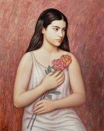 Muchacha con flores (II)