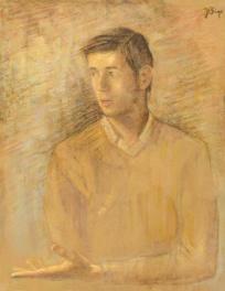 Junger Mann vor dem Licht