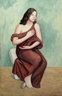 Junge sitzende Frau (I)