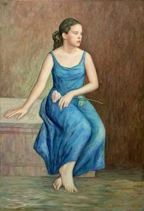 Junge sitzende Frau (II)