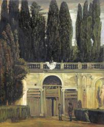 "Copy of ""Garden of the Villa Medici"" by Velázquez"