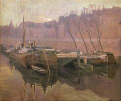 "Copy of ""Boats on the Seine"" by Rusiñol"